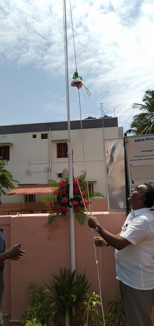 Independence day flag hoisting at schools every year